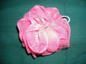 Shower puff, pink