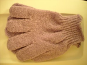 Exfoliating Spa Gloves, lilac