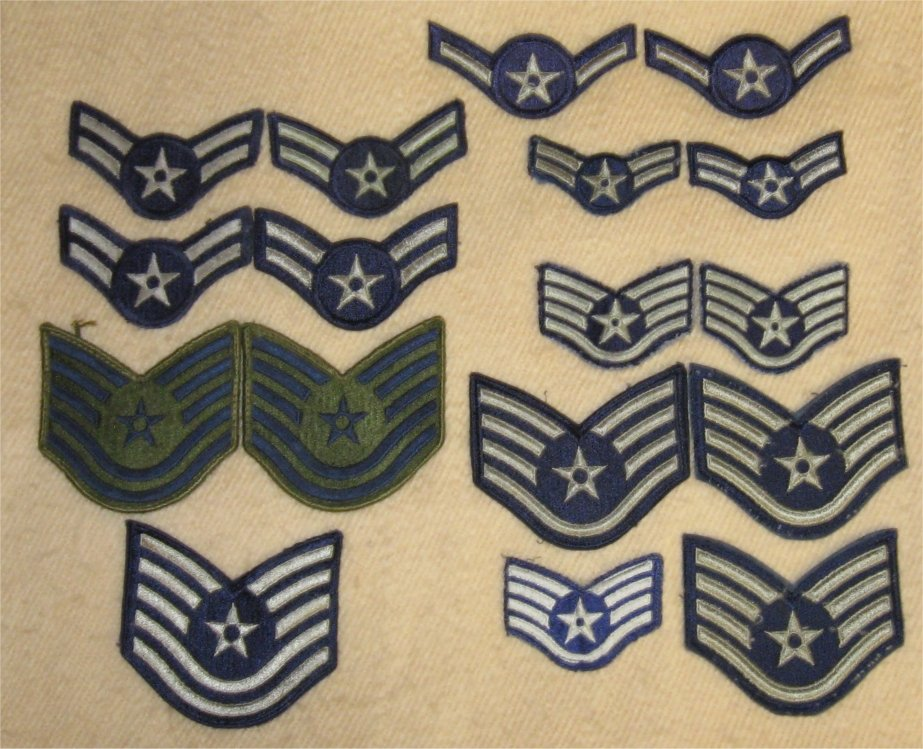Lot Vintage US Air Force USAF Rank Patches Insignia