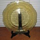 Vintage Federal Depression Glass Patrician Spoke Amber Dinner Plate