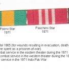 British Commonwealth India Military Ribbon Bar Samanya Seva Poorvi Paschimi Star