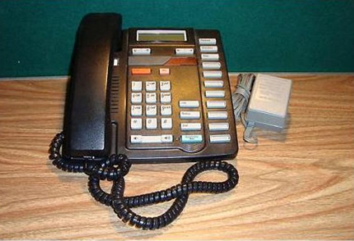 Used, Like New, Nortel Aastra NT2N18AA13 M8314 Phone W/AC *BLACK* delivered for $18.00