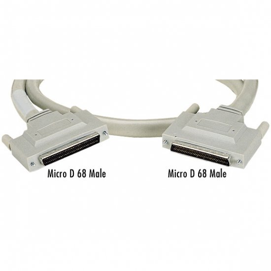 Brand New Black Box Micro D 68 Male to Micro D 68 Male Cable, 3-ft. (0.9-m)   delivered $17