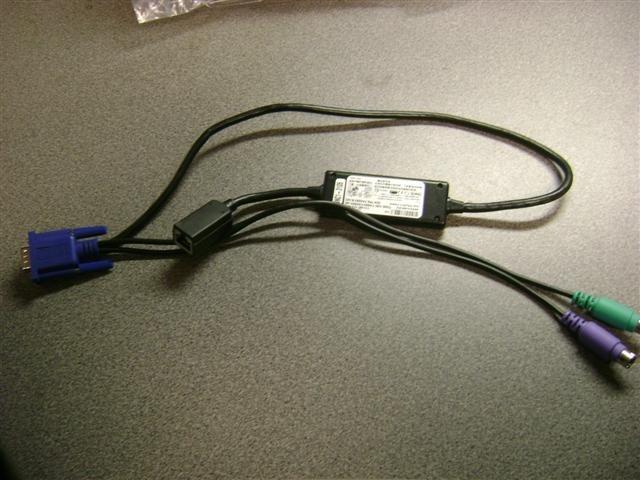 New Dell 0K9442 KVM System Interface Pod PS2/VGA/Ethernet delivered $9 each
