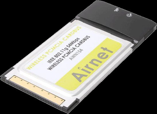 Slightly used Airnet 54Mbps Wireless PCMCIA Adapter, Compatible with IEEE 802.11b/g delivered $10