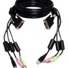 Brand New Sealed CBL0025 Avocent SwitchView 6FT KVM Cable DVI USB Audio delivered $27.00 each