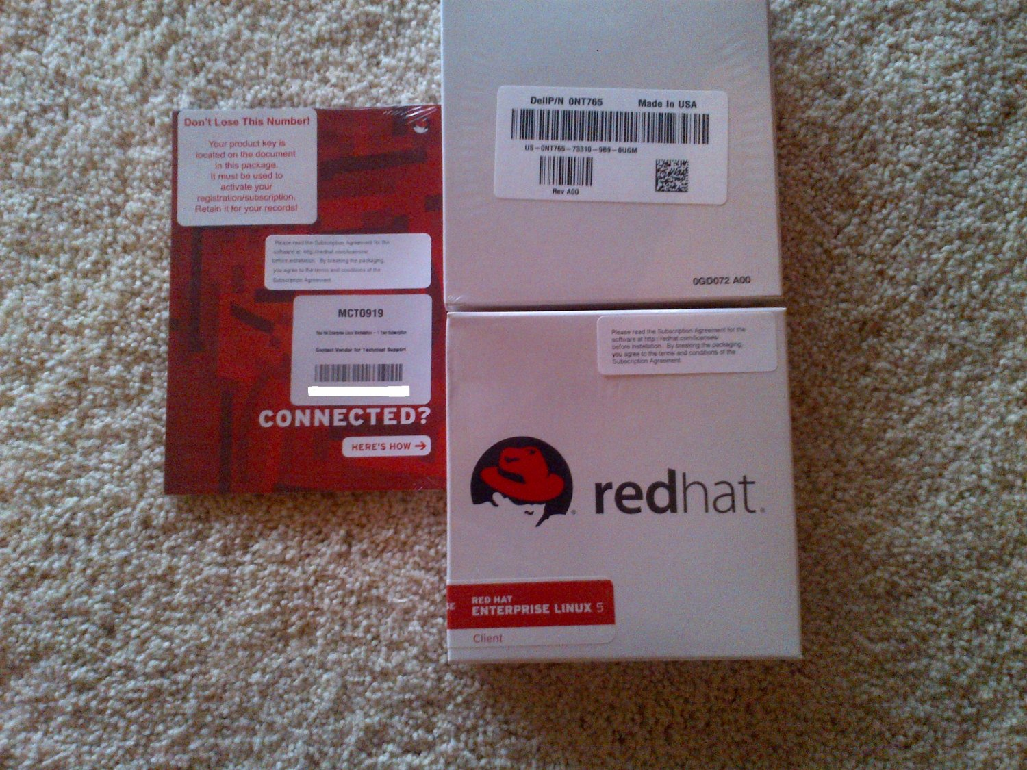 New Sealed Red Hat Enterprise Linux 5 Desktop Client Media and Subscription $28.00