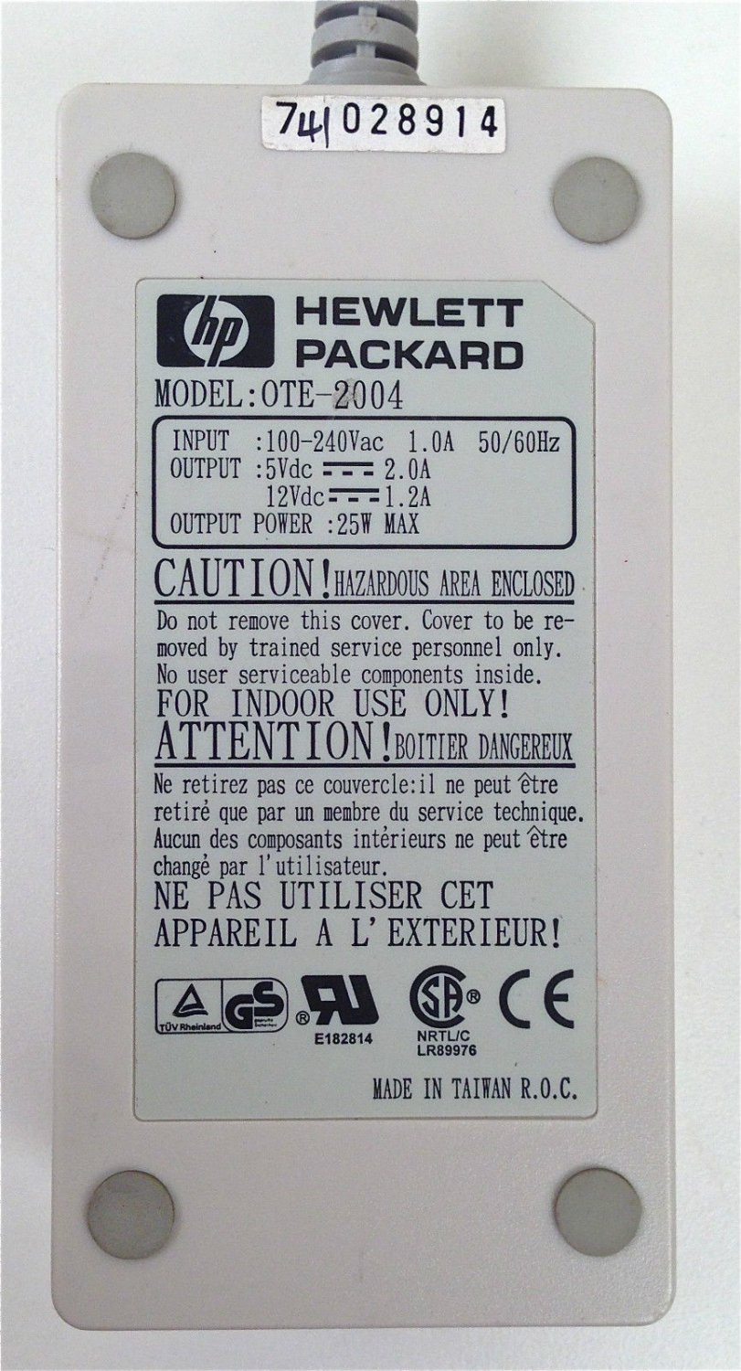 Used, perfect HP model OTE-2004 power adapter, delivered $17.00