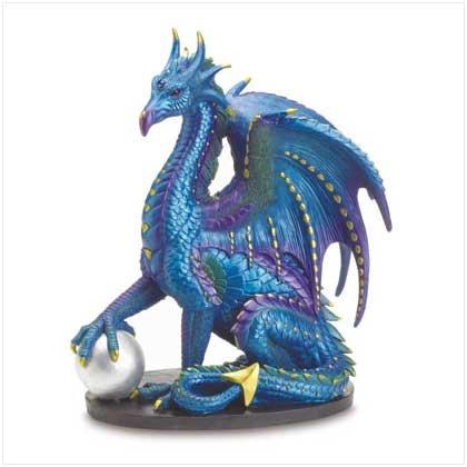Large Sitting Dragon Holding Ball