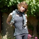 Fabulous hand dyed knitted top and scarf set