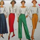 B3163 New Sewing Pattern Straight or Flared Skirt Skirt Flat Front Pant with Side Elastic Size 8 10