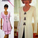 B3878 New Sewing Pattern Misses' 2-Piece Dress with Dramatic Jacket & Skirt Size 6 8 10