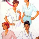 B4014 New Sewing Pattern Misses' Covered Placket Blouse V Neck Shirt Collar Classic Size 6 8 10
