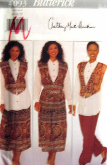 B4093 New Sewing Pattern Misses' Ethnic or Artistic Layering Shirt Tunic Skirt Pants Size 8 10 12
