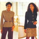 B4201 New Sewing Pattern Misses' Fitted Structured Jacket Skirt Pant Suit Set Belt Size 6 8 10