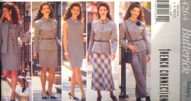 B4264 New Sewing Pattern Misses' Career Wardrobe Jacket Skirts Pants Sheath Dress Size 6 8 10 12