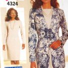 B4324 New Sewing Pattern Misses' Jacket & Sheath Dress Suit for Career or Work Size 6 8 10