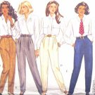 B6420 New Sewing Pattern Misses' Variations on Pants -- Tapered Cuffed or Stirup Size 6 8 10