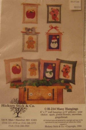 H214 New Sewing Pattern Quilt Applique Holiday Seasonal Xmas Christmas Spring Summer Autumn