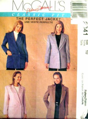 M2341 New Sewing Pattern Classic Tailored Jacket Blazer Career Wear Fitting Instructions Size 10