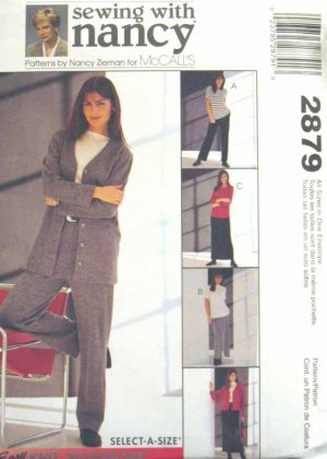 M2879 New Sewing Pattern Misses' Knits Jacket Top Pant Skirt Casual Career Size S M L XL