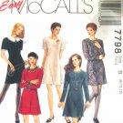 M7798 New Sewing Pattern Misses' Short Dress Simple Easy Fast Trendy size 8 10 12