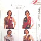 M7804 New Sewing Pattern Misses' Creative Quilt Applique Vest Craft Patchwork Design Size 4 6