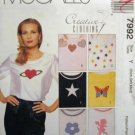 M7992 New Sewing Pattern Misses' Creative Craft Shirt Appliques Quilt Decorative Design Size XS S M