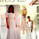 M8063 New Sewing Pattern Misses' Fitted 2 Piece Dress Tie Back Trumpet Skirt Size 4 6 8