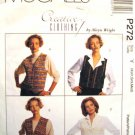 Mp272 Sewing Pattern Misses' Creative Craft Pinweave Vest Variations Ladies' Womens Size XS S M