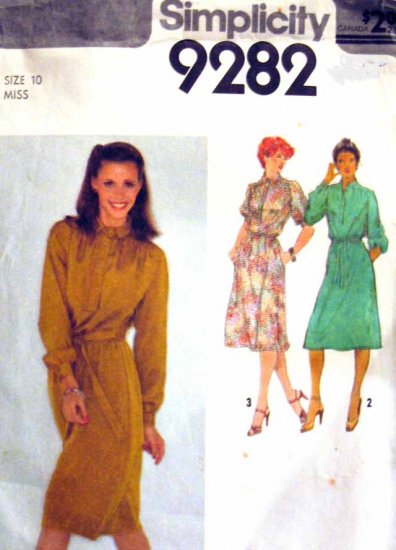 S9282 New Sewing Pattern Misses' Dress Flare long short sleeve Size 10
