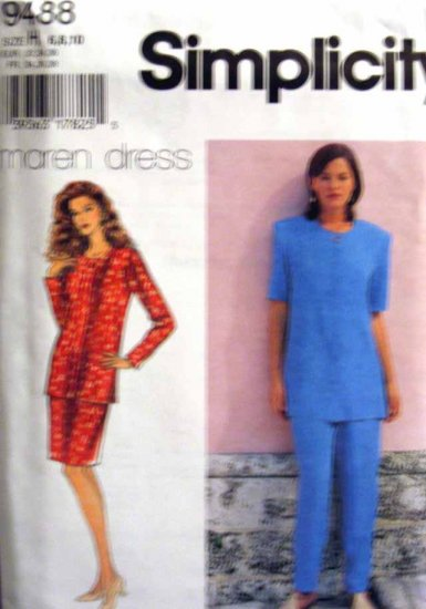 S9488 New Sewing Pattern Misses' Easy Fit Top Skirt Pants Size 6 8 10