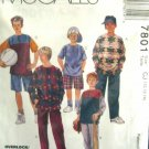 M7801 New Sewing Pattern Child Boy Teen Shirt Pants Shorts Play Sports Casual Size 10 12 14