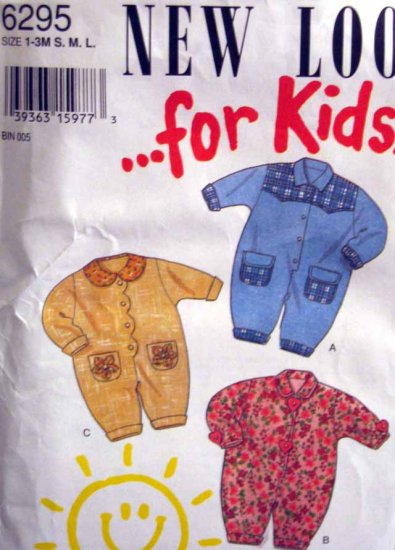 S6295 New Sewing Pattern Child Infant Baby Size 1, 2, 3 months Romper