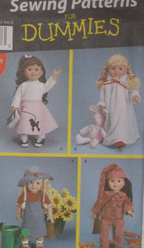 S7069 New Sewing Pattern 18 inch Baby or American Girl Doll Clothes Outfits Play