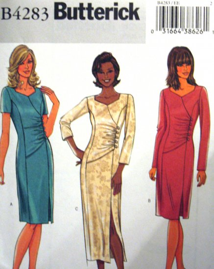 B4283 New Sewing Pattern Miss Side Gather Asymmetrical Formal Evening Cocktail Dress Size 6 8 10