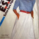 S5826 Sewing Pattern Knit Pullover Top Skirt 6 8 10