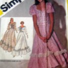 S5093 Sewing Pattern Ruffled Sweetheart Dress sz 12 Day or Special Occasion