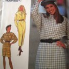 Style 2310 Sewing Pattern Easy Dress Size 8 10 12 14 16 18 Button Front Vary Length Long Sleeves