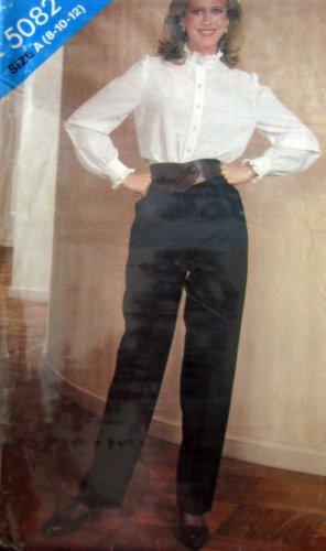 B5082 Sewing Pattern Pants Ruffled Top Blouse 8 10 12