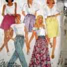 M4257 Sewing Pattern Pants Shorts Skirt Slim A Line Size S