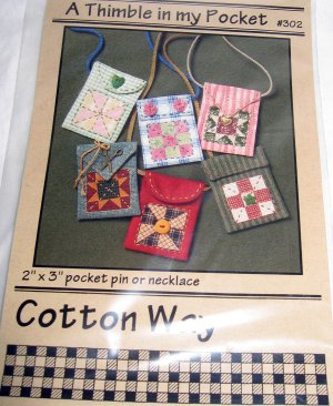 Cotton Way 302 Sewing Pattern Mini Bag Purse Quilt Patchwork Pin