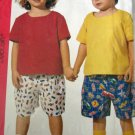 M7048 Sewing Pattern Child Girl Boy Top Short sz 2 3 4
