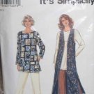 S9313 Pant Tunic Flowing Vest sz XS S M L XL Casual Weekend Outfit