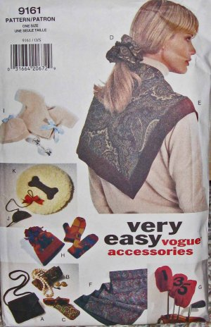 V9161 Sewing Pattern Gifts for Pets Baby Friends Men Women