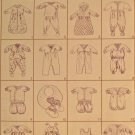 New Sewing Pattern Baby Clothes Layette Dolls Quick & Easy