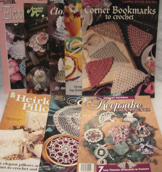 Household Thread & Yarn Crochet Pattern Brochure Leaflet Assortment