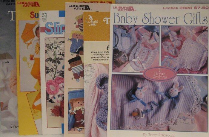 Baby Gift Thread & Yarn Crochet Pattern Brochure Leaflet Assortment