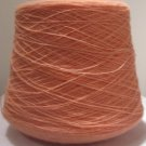 Peach 2 24 Acrylic Knitting Machine or Hand Crochet Cone Yarn Thread Fingering or Lace Weight
