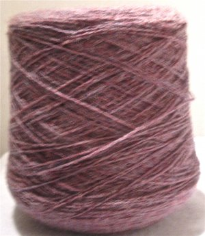 Heather Mauve Acrylic Knitting Machine or Hand Crochet Cone Yarn Thread Fingering or Lace Weight